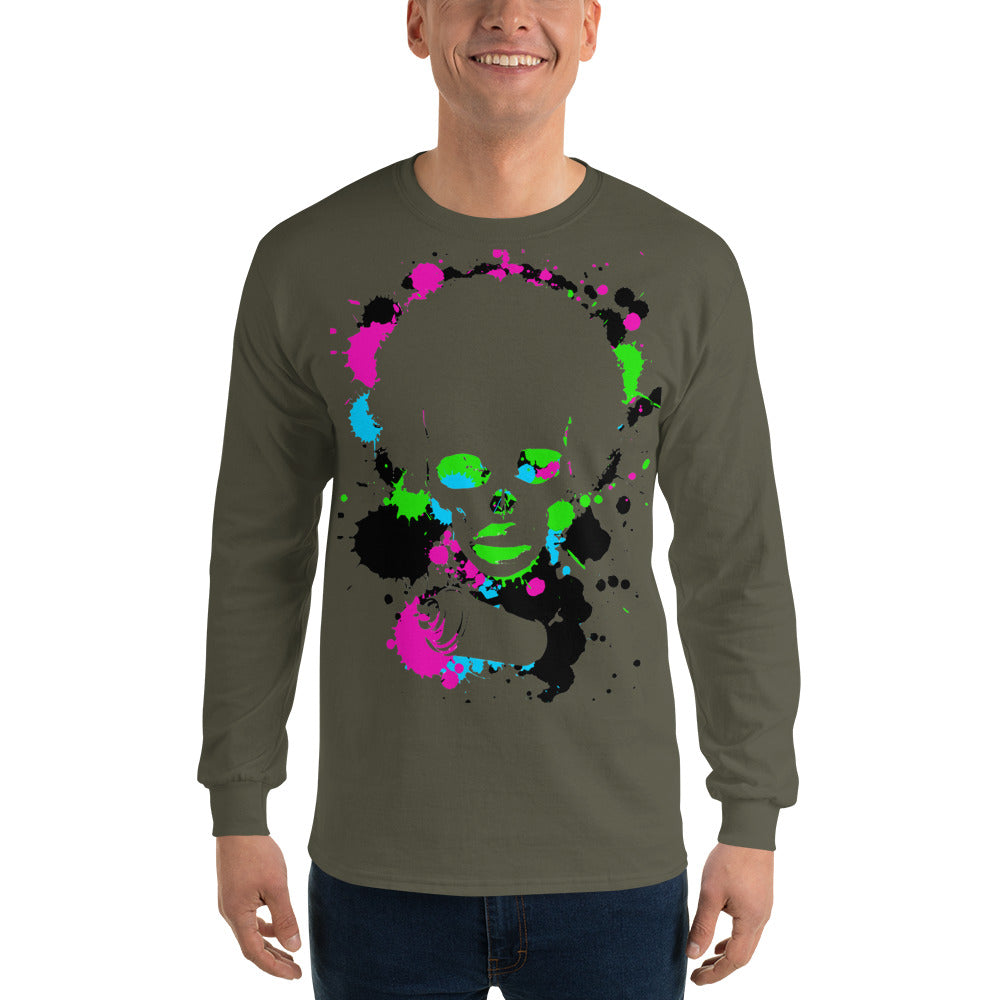 Long Sleeve T-Shirt Afro Space Spllatter