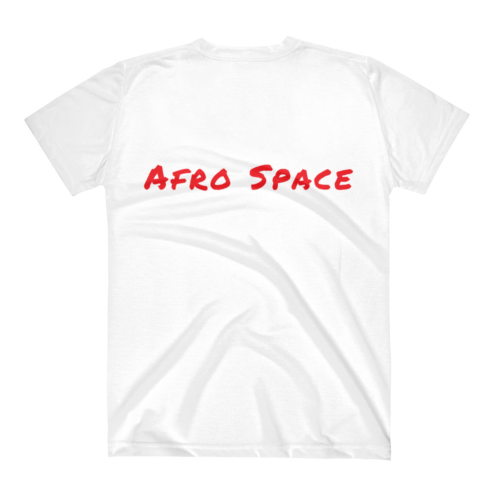Afro Space Blue Eye All over Women's V-Neck T-Shirt