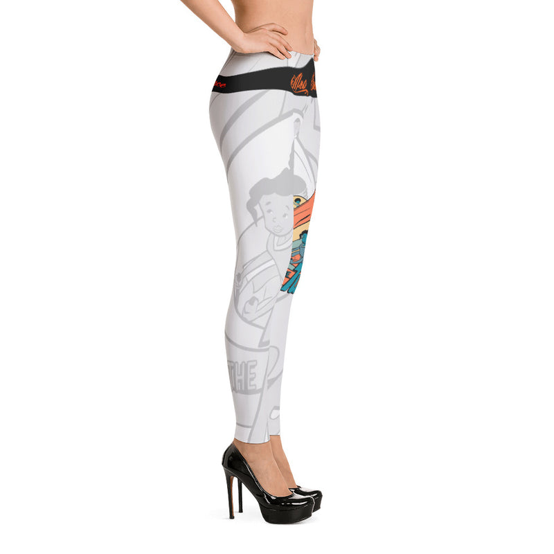 Grey Green Fusion Leggings - Afro Space