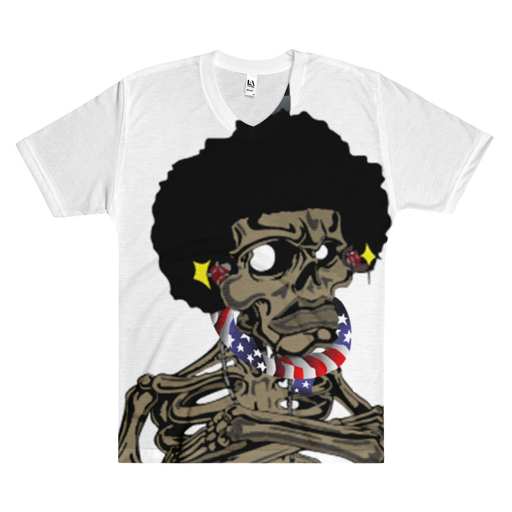 Afro Space Flag EFTP Men's V-Neck T-Shirt