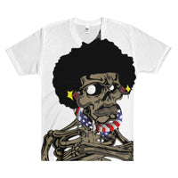 Afro Space Flag EFTP Men's V-Neck T-Shirt - Afro Space