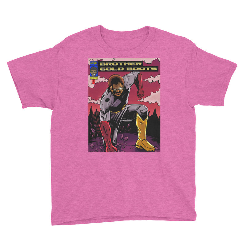 Youth  Black Super Hero #4 Short Sleeve T-Shirt - Afro Space