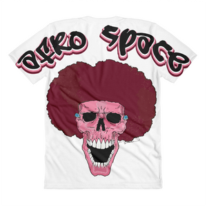 Pink Afro Space Sublimation women's crew neck t-shirt - Afro Space