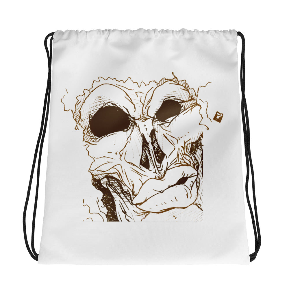 Mean Mug Drawstring bag