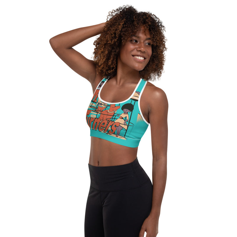Turners Padded Sports Bra - Afro Space