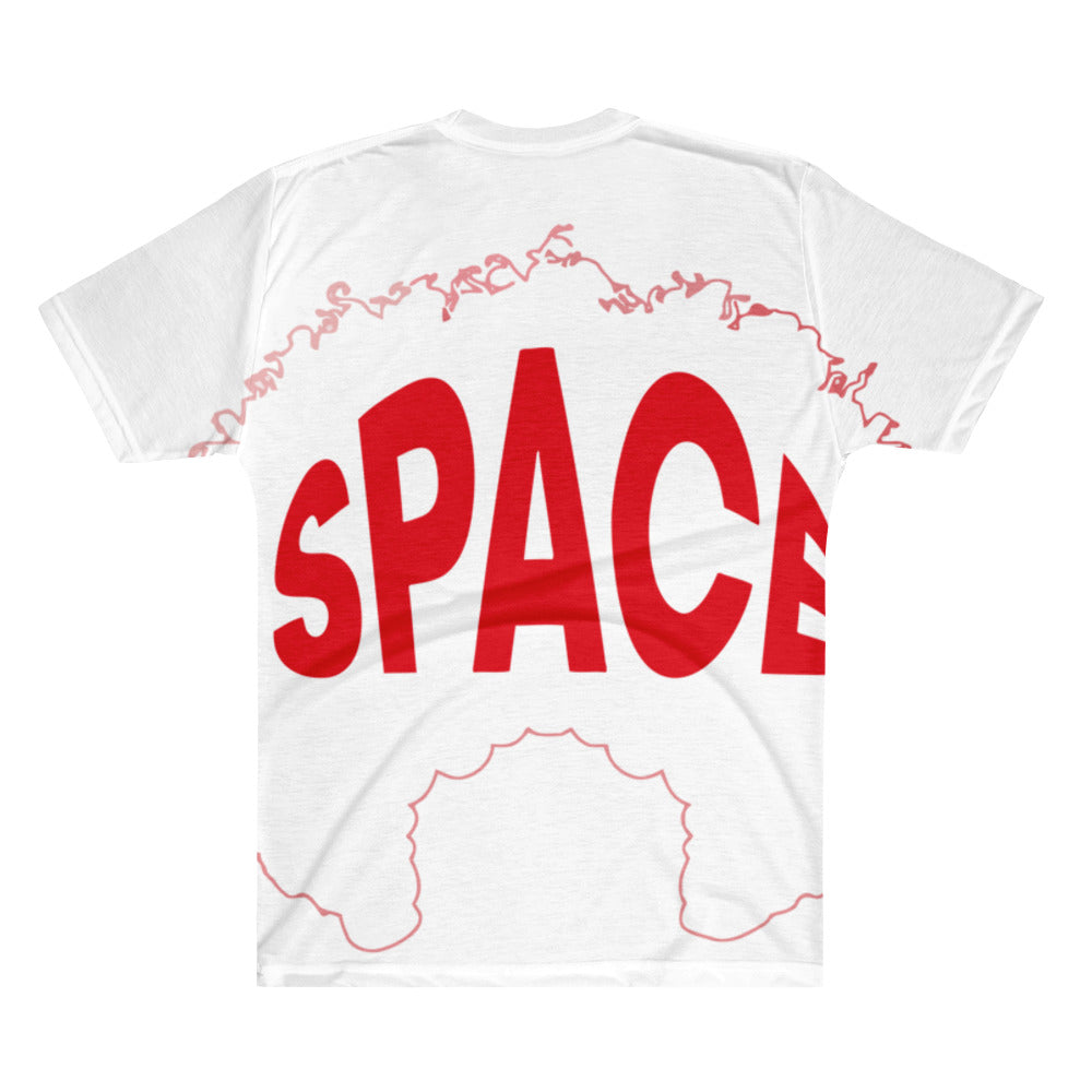 Logo ALL Over  Men's V-Neck T-Shirt - Afro Space