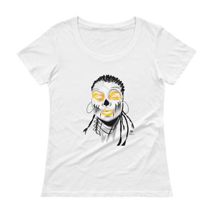 Afro Spaces Ladies' Scoopneck T-Shirt