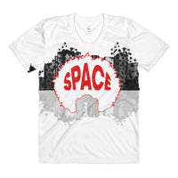 Sublimation all over women's crew neck t-shirt - Afro Space