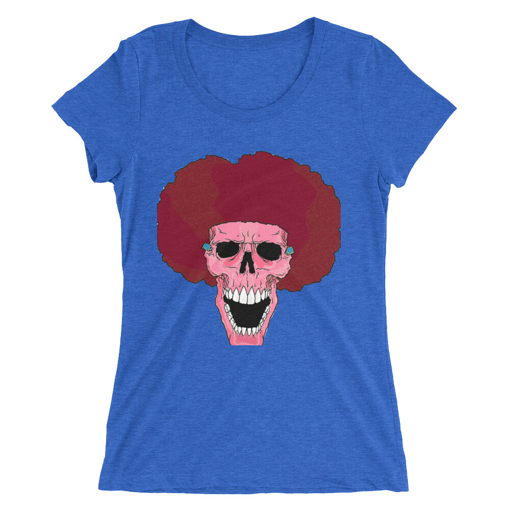 Female PINK Afro Space Ladies' short sleeve t-shirt