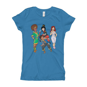 Afro Space Girl's T-Shirt - Afro Space