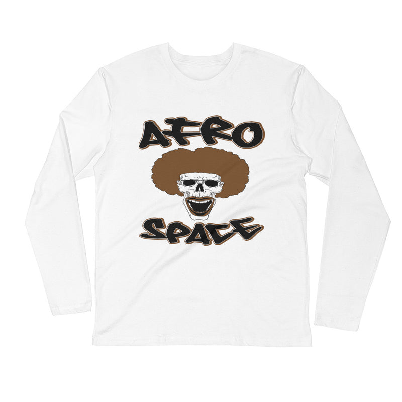 Long Sleeve Fitted Crew Black & Brown - Afro Space