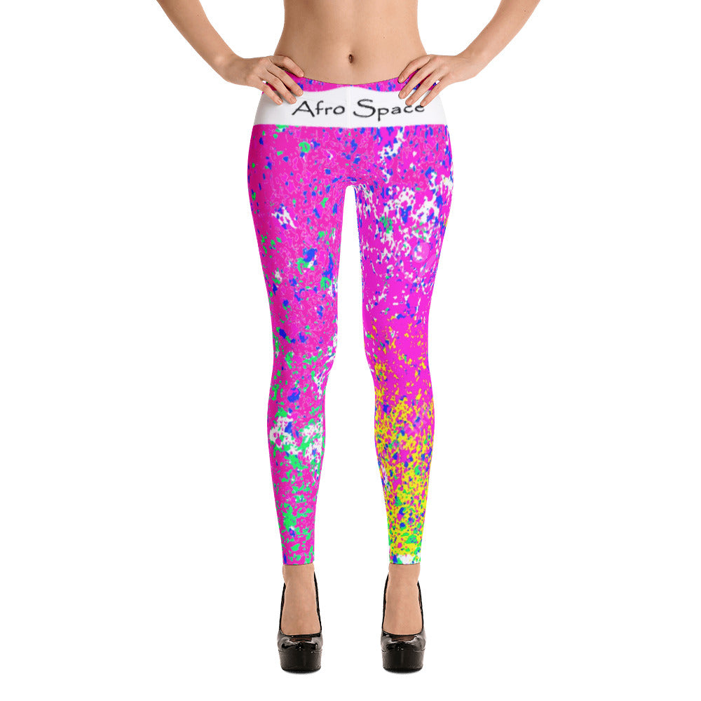 Hot Pink Themed Leggings
