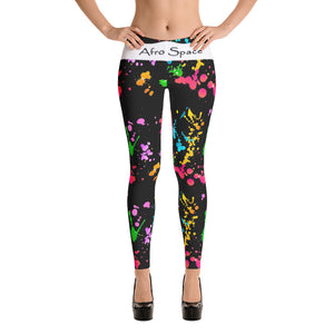 Splattered Themed Leggings - Afro Space
