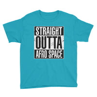 Straight OUTTA Afro Space Youth Short Sleeve T-Shirt - Afro Space
