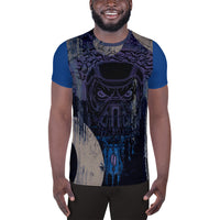 Fall 2019 CollectionI AM The Way All-Over Print Men's Athletic T-shirt - Afro Space
