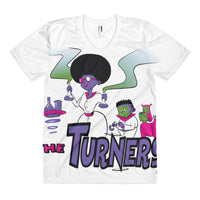 Turners Limited Edition Science Women's sublimation t-shirt - Afro Space