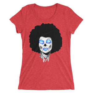 Sista Girl Blue Ladies' short sleeve t-shirt - Afro Space