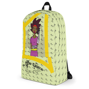Afro Space Girls Hello All Over Backpack - Afro Space