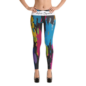 Splotched Themed Leggings - Afro Space