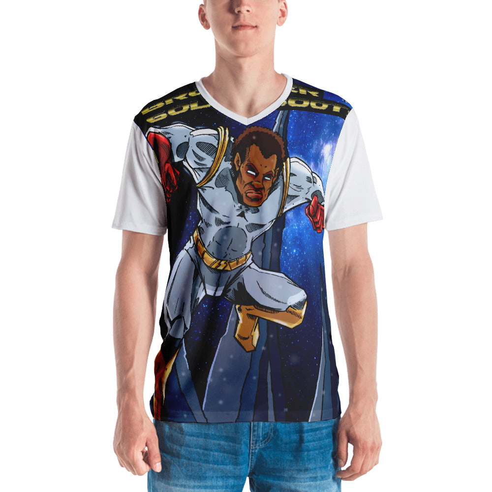 Brother Gold Boot #3 Men's T-shirt - Afro Space