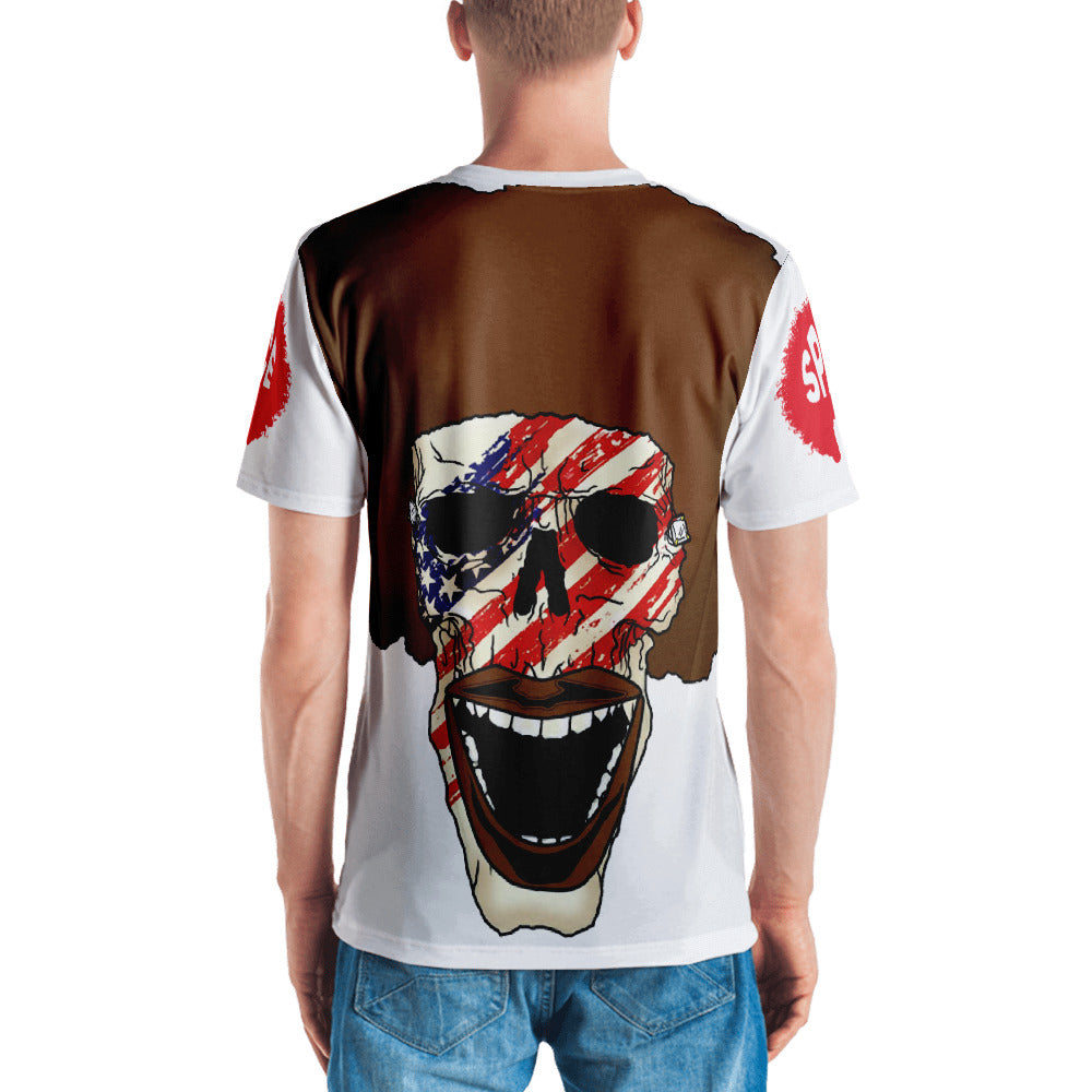 Afro Space American Flag Men's T-shirt - Afro Space