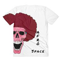 Female PINK Afro Space Sublimation women's crew neck t-shirt - Afro Space