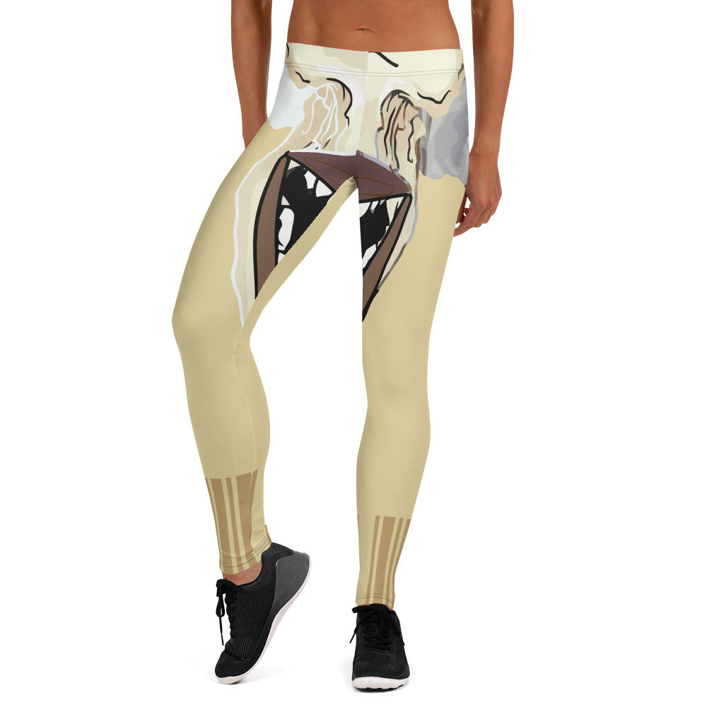 Afro Space Barcode Leggings