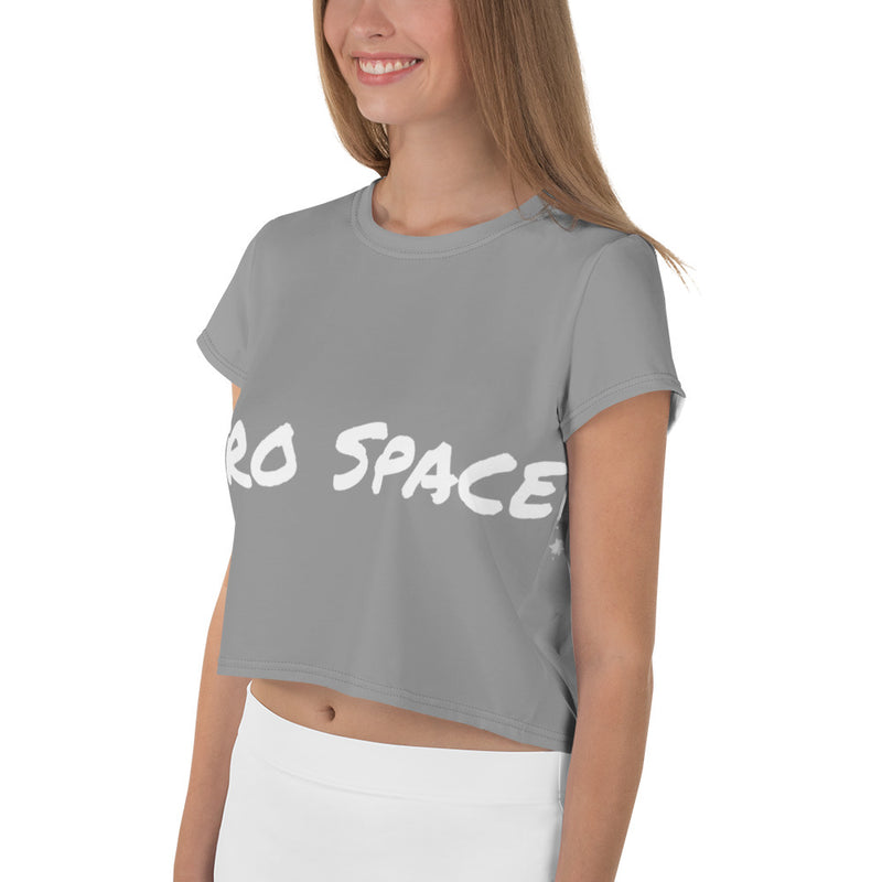 Womens All-Over Print Crop Tee City Landscape - Afro Space