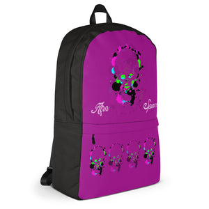 Afro Space Purple Haze Girls Backpack - Afro Space