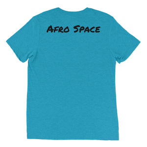 Posing Afro Space Girl Short sleeve t-shirt - Afro Space
