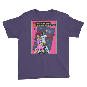 Afro Space GB Pink Youth Short Sleeve T-Shirt