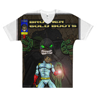 Brother Gold Boot Green-Men's V-Neck T-Shirt - Afro Space