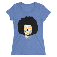 Afro Space Sista Girls Yellow Ladies' short sleeve t-shirt - Afro Space