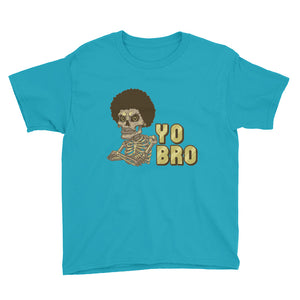 Back 2 School Yo Bro Youth Short Sleeve T-Shirt - Afro Space
