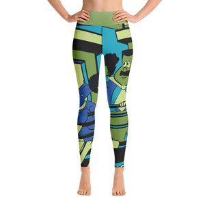 Turners Green Yoga Leggings - Afro Space