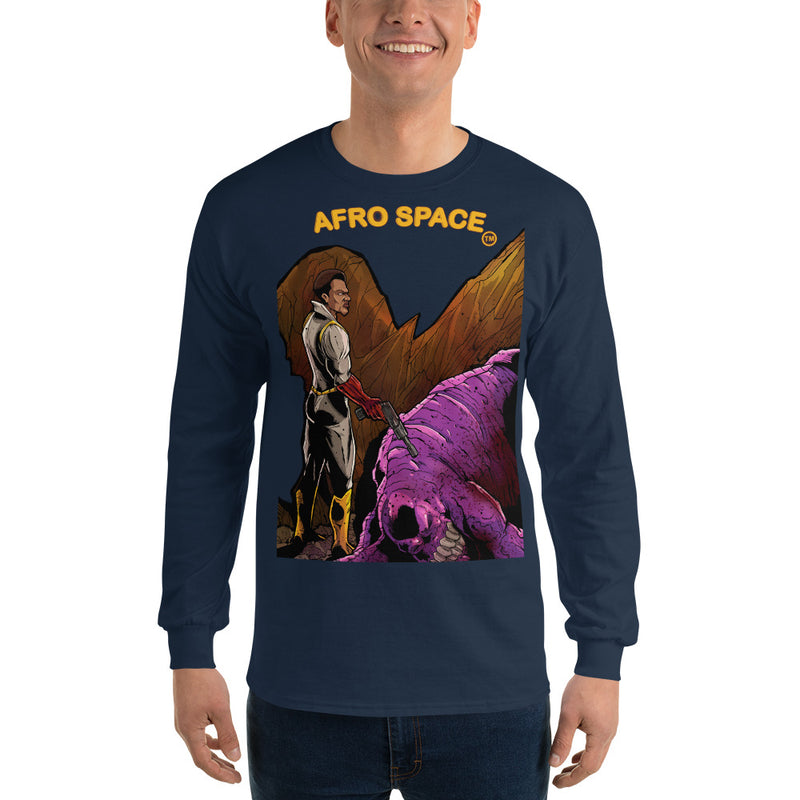 Long Sleeve T-Shirt BG Super Hero 4 - Afro Space