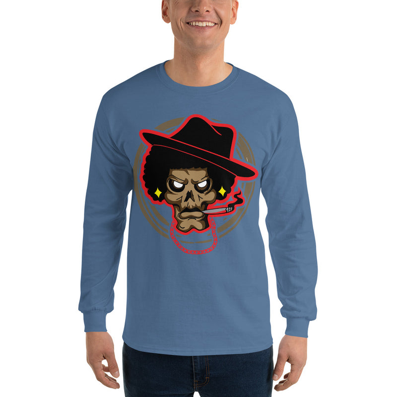 Long Sleeve T-Shirt Mean Mug - Afro Space