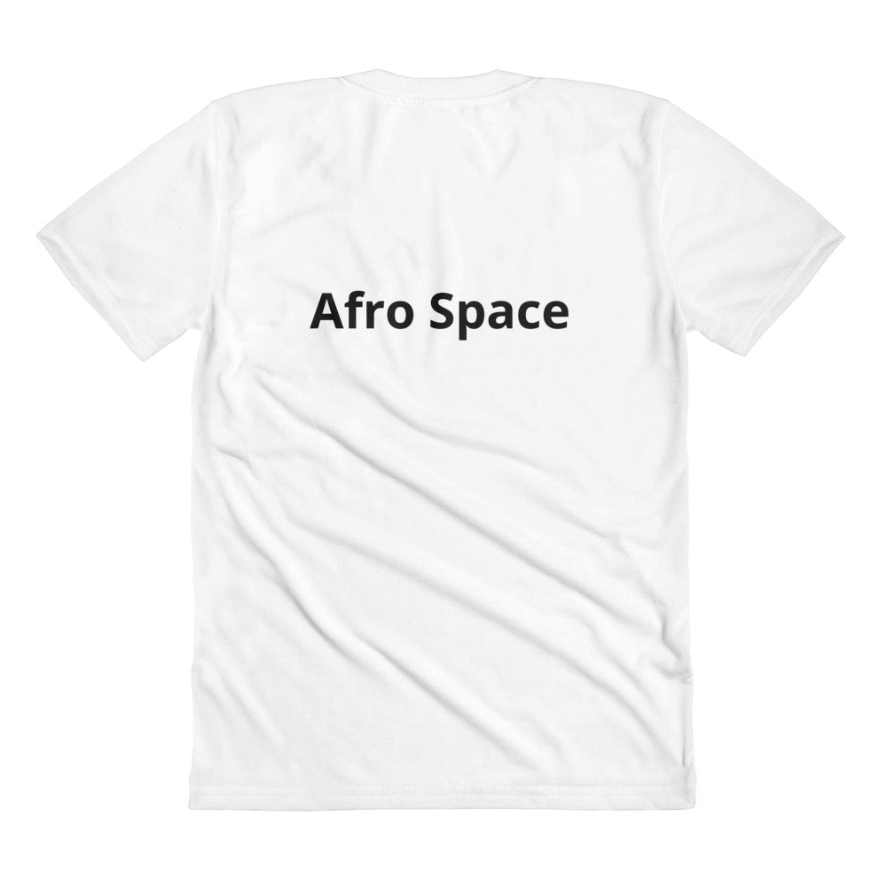 Afro Space Jackie Sublimation women's crew neck t-shirt - Afro Space