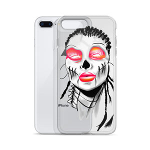 Afro Space Sista Girl Pink iPhone Case