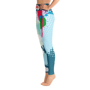 Afro Space Splatter Yoga Leggings - Afro Space