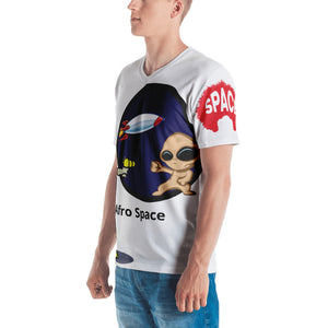 Afro Space Cartoon  Men's T-shirt