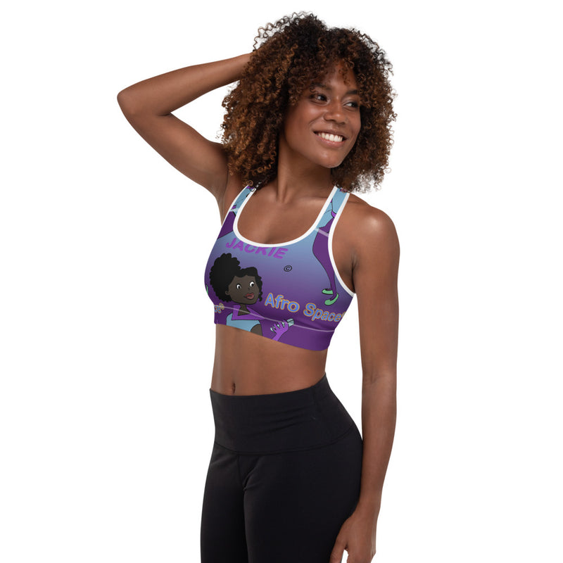 Purple Jackie 2.0 Padded Sports Bra - Afro Space