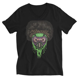 Unisex Short Sleeve V-Neck T-Shirt - Afro Space