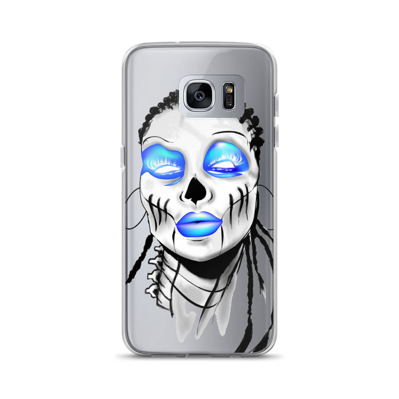 Afro Space SIsta Girl Blue Samsung Case - Afro Space