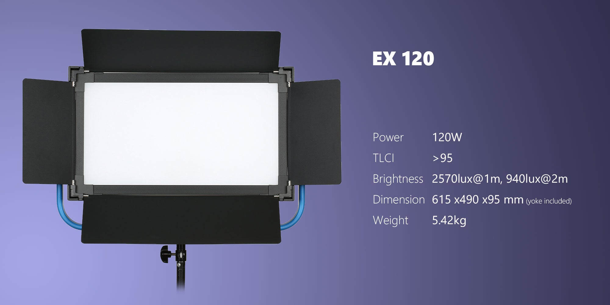 powerful LED panel for studio