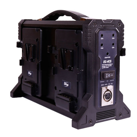Professional Quad battery charger for V Mount batteries