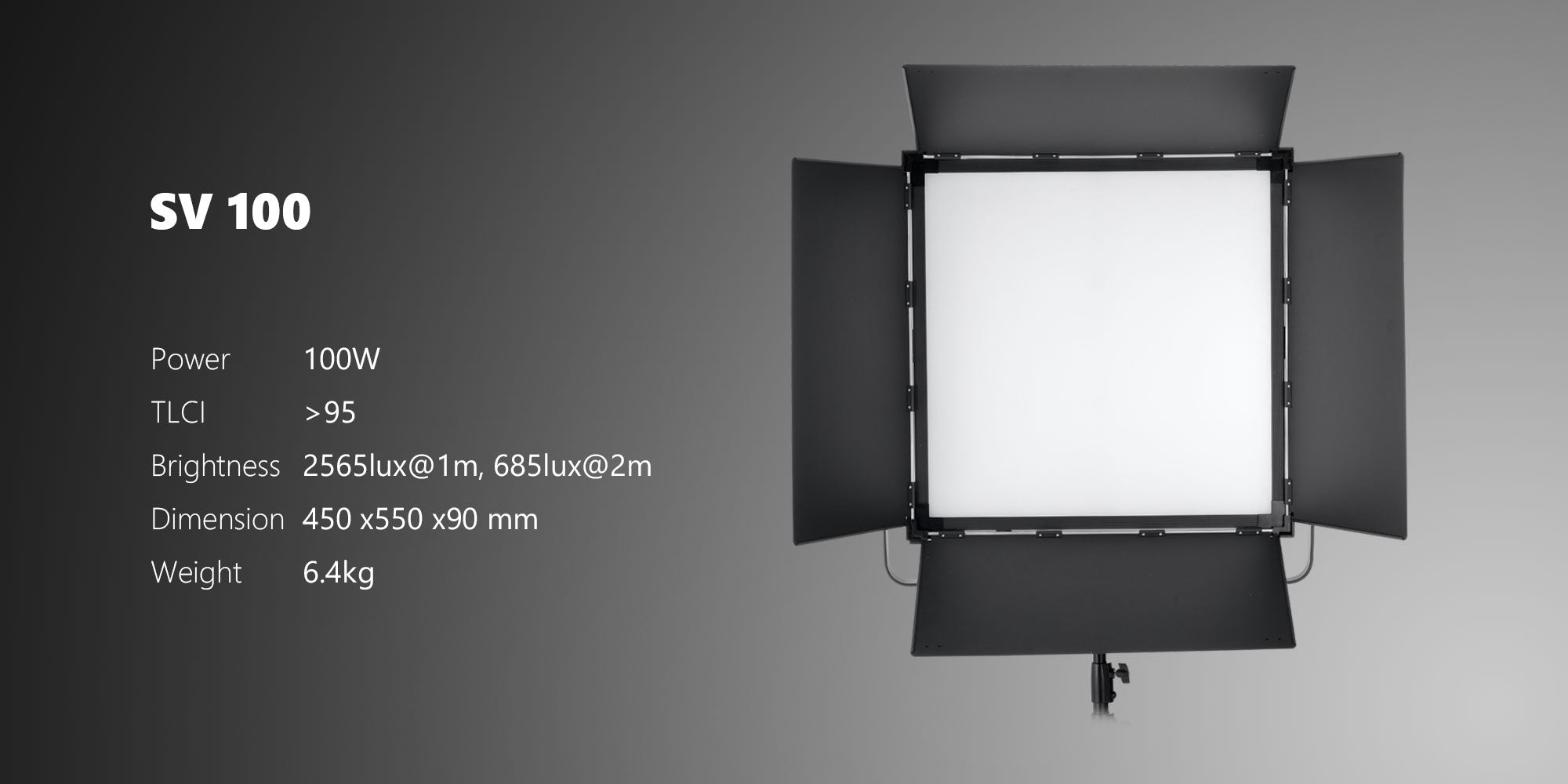 powerful led panel for studio SV100