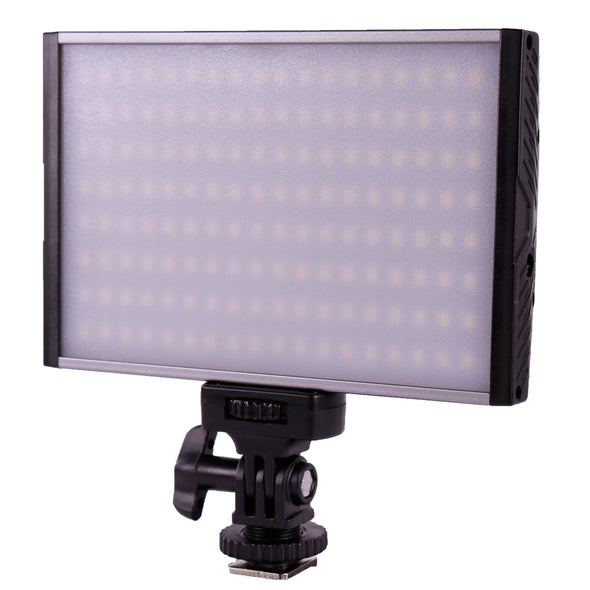 Ultrathin Aluminum LED On-camera Light Bi-Color 3200K-5600K 15W CS15