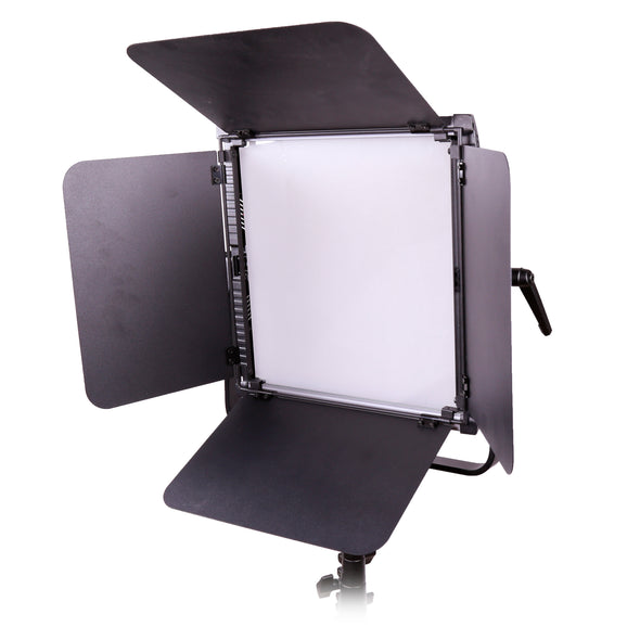 Ultrathin Aluminum LED Panel Soft Light 1 x 1 Bi-Color 3200K-5600K with V Mount Battery Plate PS100