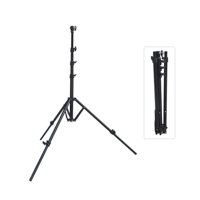 Foldable Air-Cushioned portable Light Stand LS-02 (Black 6.88')